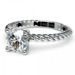 Twisted Rope Solitaire Engagement Ring in White Gold | Thumbnail 04