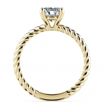 Twisted Rope Solitaire Engagement Ring in Yellow Gold | Thumbnail 02