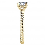Twisted Rope Solitaire Engagement Ring in Yellow Gold   Thumbnail 03