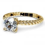Twisted Rope Solitaire Engagement Ring in Yellow Gold   Thumbnail 04