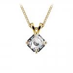 Asscher Diamond Solitaire Pendant in Yellow Gold (1/2 ctw)  | Thumbnail 01