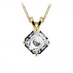 Asscher Diamond Solitaire Pendant in Yellow Gold (1 1/2 ctw)  | Thumbnail 01