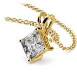Asscher Diamond Solitaire Pendant in Yellow Gold (1 1/2 ctw)  | Thumbnail 03