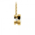 Bezel Diamond Solitaire Pendant in Yellow Gold (1/2 ctw) | Thumbnail 02