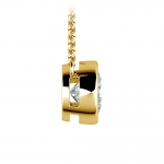 Bezel Diamond Solitaire Pendant in Yellow Gold (1 1/2 ctw) | Thumbnail 02