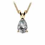 Pear Diamond Solitaire Pendant in Yellow Gold (1 1/2 ctw) | Thumbnail 01