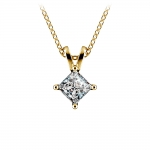 Princess Diamond Solitaire Pendant in Yellow Gold (1/2 ctw)  | Thumbnail 01