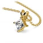 Princess Diamond Solitaire Pendant in Yellow Gold (1/2 ctw)  | Thumbnail 03