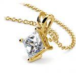 Princess Diamond Solitaire Pendant in Yellow Gold (1 1/2 ctw)    Thumbnail 03