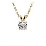 Round Diamond Solitaire Pendant in Yellow Gold (1/2 ctw) | Thumbnail 01