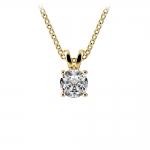 Round Diamond Solitaire Pendant in Yellow Gold (1/2 ctw) | Thumbnail 01