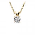 Round Diamond Solitaire Pendant in Yellow Gold (1/2 ctw)   Thumbnail 01
