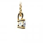 Round Diamond Solitaire Pendant in Yellow Gold (1/2 ctw)   Thumbnail 02