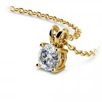 Round Diamond Solitaire Pendant in Yellow Gold (1/2 ctw) | Thumbnail 03