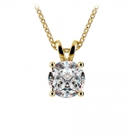 Round Diamond Solitaire Pendant in Yellow Gold (1 1/2 ctw)   Thumbnail 01