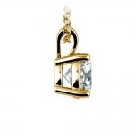 Round Diamond Solitaire Pendant in Yellow Gold (1 1/2 ctw)   Thumbnail 02