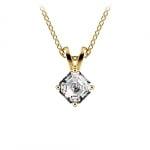 Asscher Diamond Solitaire Pendant in Yellow Gold (1/3 ctw)  | Thumbnail 01