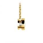 Bezel Diamond Solitaire Pendant in Yellow Gold (1/3 ctw) | Thumbnail 02