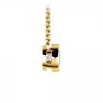 Bezel Diamond Solitaire Pendant in Yellow Gold (1/3 ctw) | Thumbnail 02
