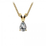 Pear Diamond Solitaire Pendant in Yellow Gold (1/3 ctw) | Thumbnail 01