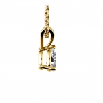 Pear Diamond Solitaire Pendant in Yellow Gold (1/3 ctw) | Thumbnail 02