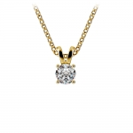 Round Diamond Solitaire Pendant in Yellow Gold (1/3 ctw) | Thumbnail 01