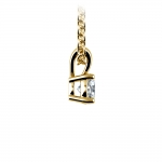 Round Diamond Solitaire Pendant in Yellow Gold (1/3 ctw) | Thumbnail 02