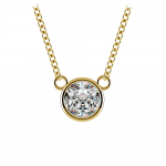Bezel Diamond Solitaire Pendant in Yellow Gold (3/4 ctw) | Thumbnail 01