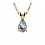 Pear Diamond Solitaire Pendant in Yellow Gold (3/4 ctw)   Thumbnail 01