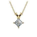 Princess Diamond Solitaire Pendant in Yellow Gold (3/4 ctw)    Thumbnail 01