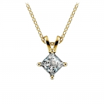 Princess Diamond Solitaire Pendant in Yellow Gold (3/4 ctw)  | Thumbnail 01