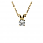 Round Diamond Solitaire Pendant in Yellow Gold (1/4 ctw) | Thumbnail 01