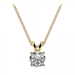 Round Diamond Solitaire Pendant in Yellow Gold (3/4 ctw) | Thumbnail 01