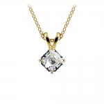 Asscher Diamond Solitaire Pendant in Yellow Gold (1/5 ctw)  | Thumbnail 01