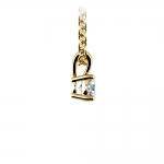 Round Diamond Solitaire Pendant in Yellow Gold (1/5 ctw) | Thumbnail 02