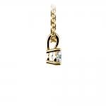 Round Diamond Solitaire Pendant in Yellow Gold (1/5 ctw) | Thumbnail 02