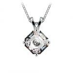 Asscher Diamond Solitaire Pendant in Platinum (1 1/2 ctw)  | Thumbnail 01