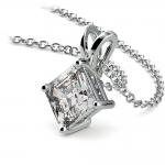 Asscher Diamond Solitaire Pendant in Platinum (1 1/2 ctw)  | Thumbnail 03