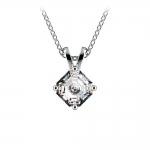 Asscher Diamond Solitaire Pendant in Platinum (1/2 ctw)    Thumbnail 01