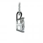 Asscher Diamond Solitaire Pendant in Platinum (1/2 ctw)  | Thumbnail 02