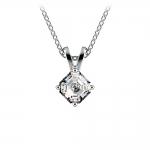 Asscher Diamond Solitaire Pendant in Platinum (1/4 ctw)  | Thumbnail 01