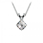 Asscher Diamond Solitaire Pendant in Platinum (1/5 ctw)  | Thumbnail 01