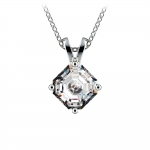 Asscher Diamond Solitaire Pendant in Platinum (1 ctw)  | Thumbnail 01