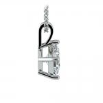 Asscher Diamond Solitaire Pendant in Platinum (1 ctw)  | Thumbnail 02