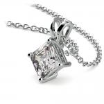 Asscher Diamond Solitaire Pendant in Platinum (1 ctw)  | Thumbnail 03
