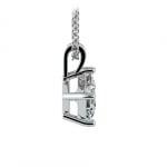 Asscher Diamond Solitaire Pendant in Platinum (3/4 ctw)  | Thumbnail 02
