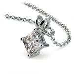 Asscher Diamond Solitaire Pendant in Platinum (3/4 ctw)  | Thumbnail 03