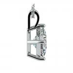Asscher Diamond Solitaire Pendant in Platinum (3 ctw)  | Thumbnail 02
