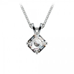 Asscher Diamond Solitaire Pendant in White Gold (1/2 ctw)  | Thumbnail 01