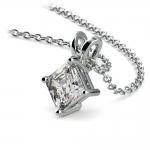 Asscher Diamond Solitaire Pendant in White Gold (1/2 ctw)  | Thumbnail 03